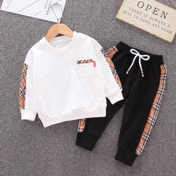 Children's clothing boy autumn Korean leisure suit t-shirt + trousers 2pcs 1-5T toddler boy clothes