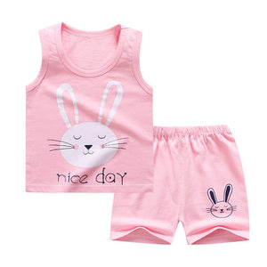 2020 Summer Children's Clothing for Baby Girl Clothes Cartoon Shorts Suit T-shirt Boy Girl Cartoon Pattern Kids Clothes 0-6Y