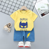 2020 Summer Boys Clothes Sport Suit Set Fashion Casual Short Sleeve O-neck Children's Clothing Set 2 Pieces T-Shirt + Pants
