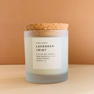 Lavender + Mint Frosted Candle