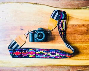 Camera & Bag Strap - Pink Jungle Pajaros