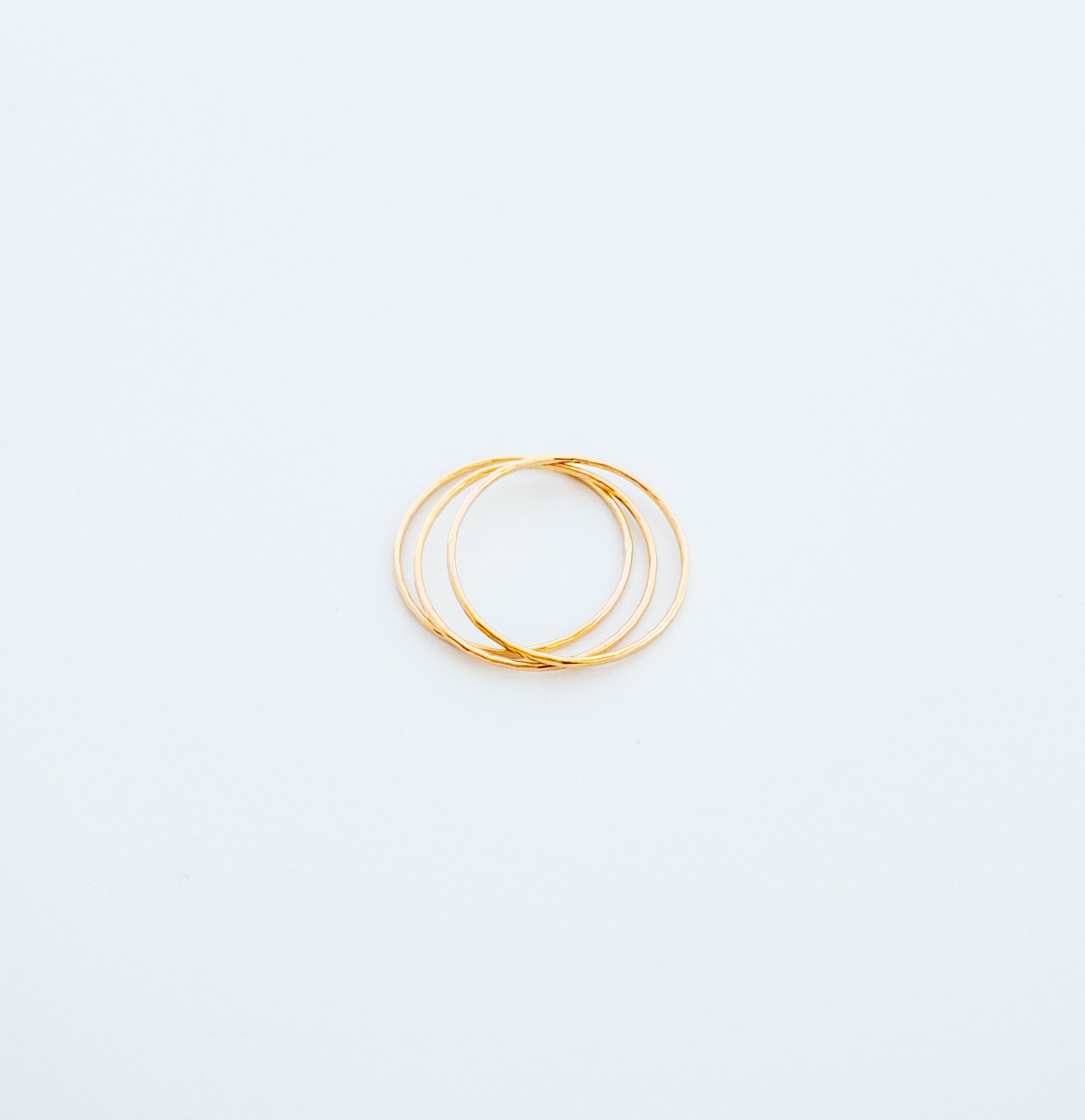 Barely There Hammered Ring