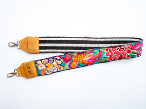 Camera & Bag Strap - White Jungle Flower