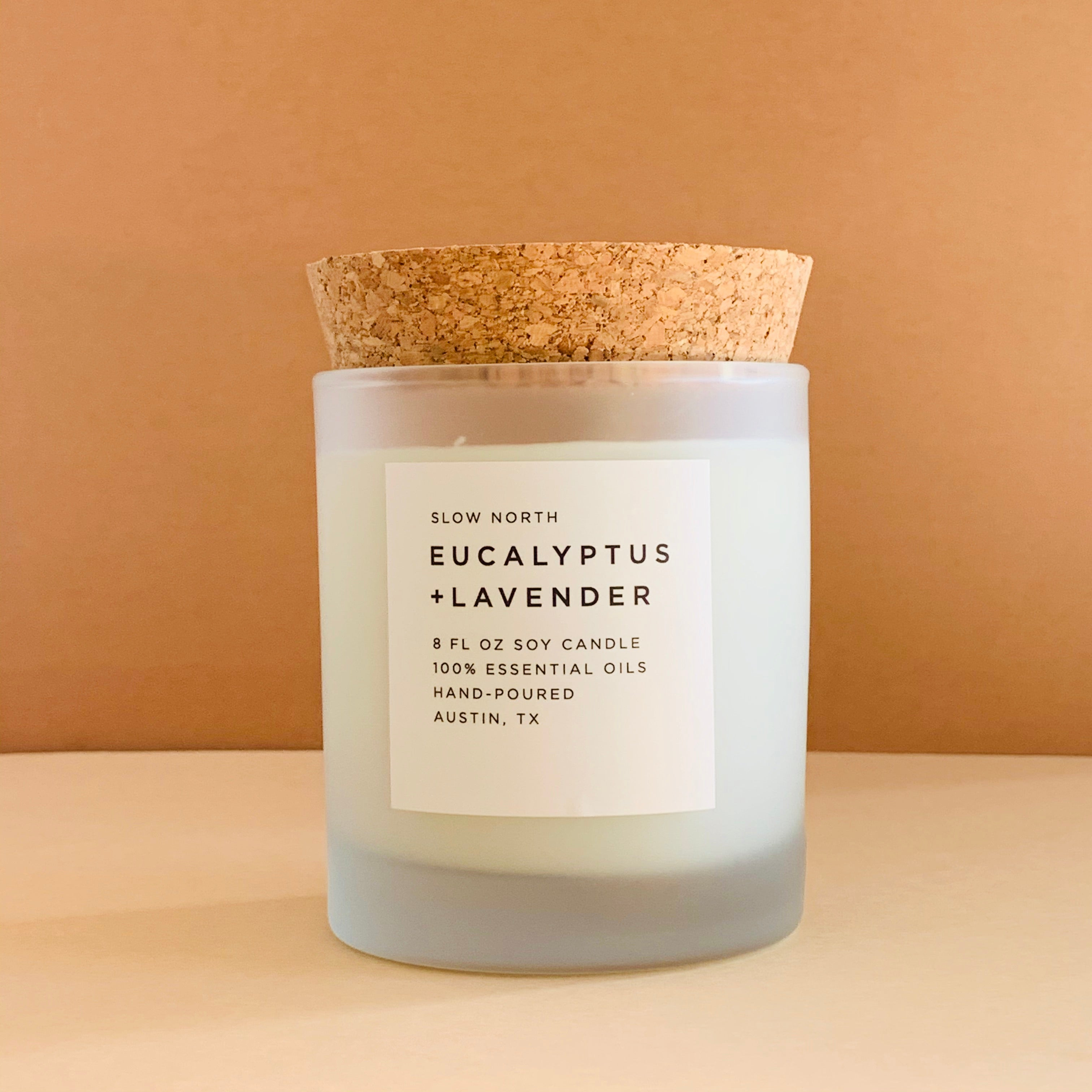 Eucalyptus + Lavender Frosted Candle