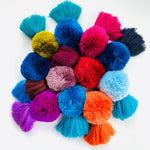 Load image into Gallery viewer, Deep Blue Pom Tassel