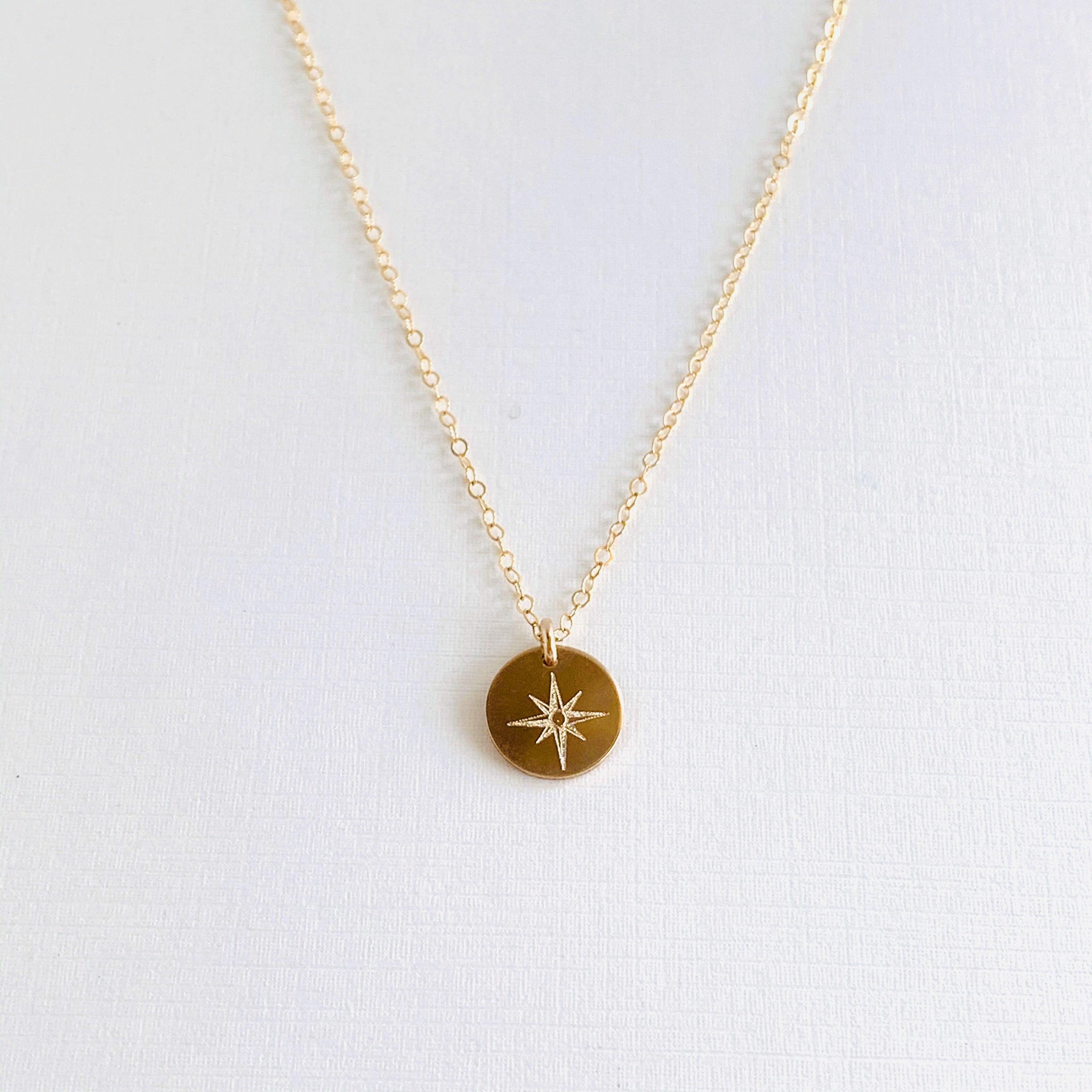 Compass Disc Necklace