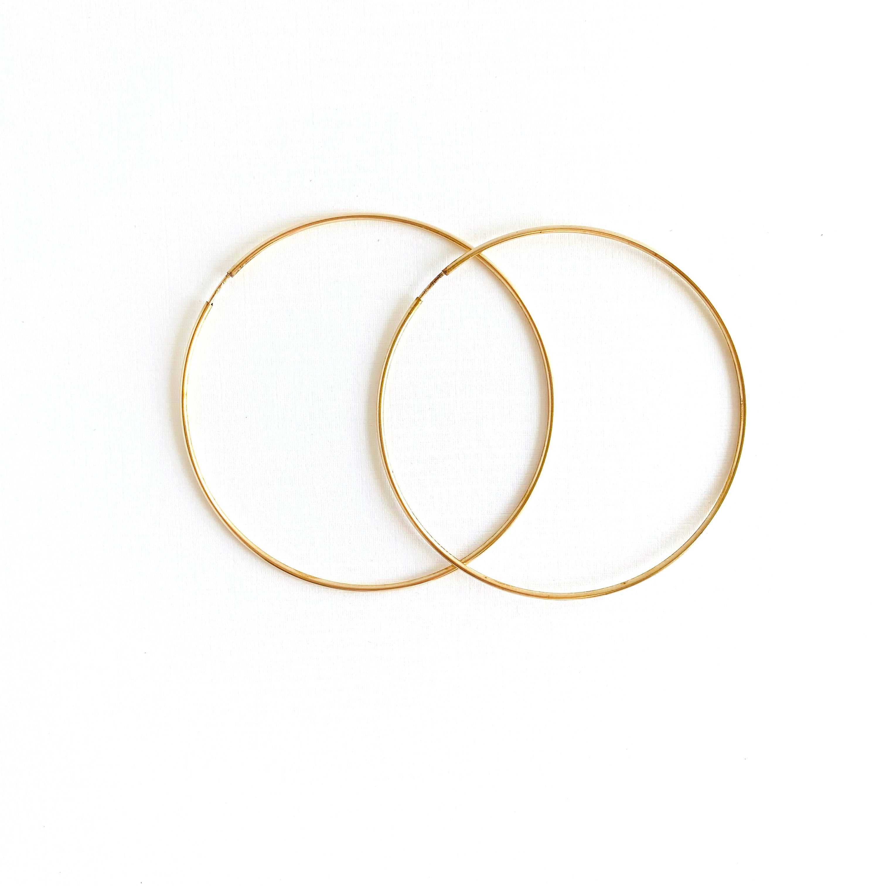 Infinity Gold Hoops