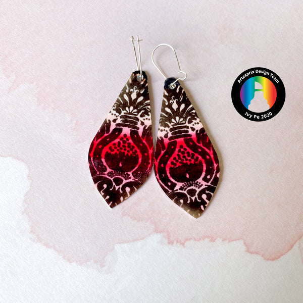 Make Iron-on-Ink Earrings from a Bookmark!