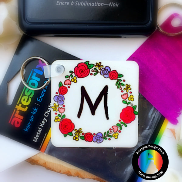 Cute Metal Key Chains with Sublimation Markers!