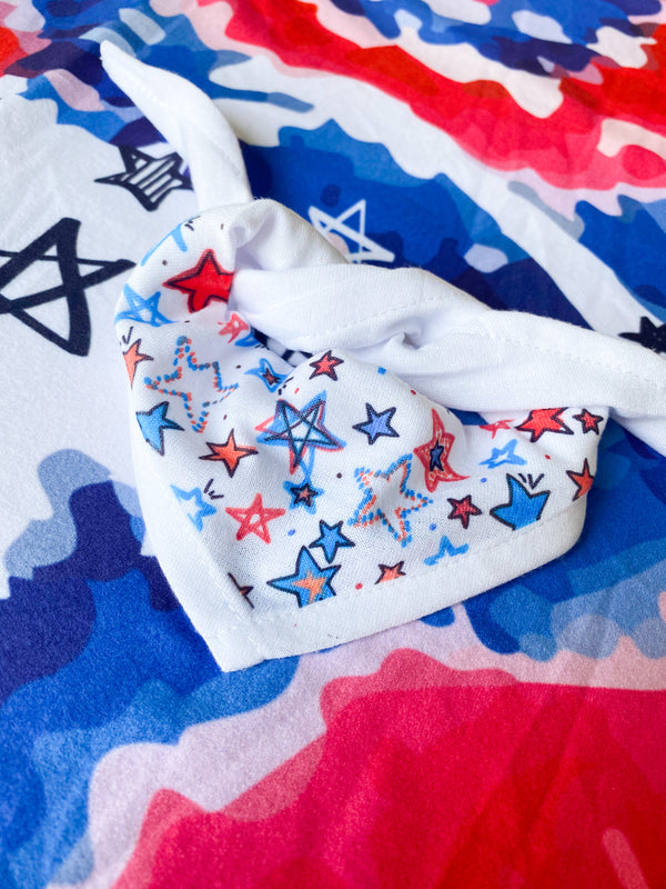 Pet Bandana Iron-on-Ink style for your 4th of July celebrations!