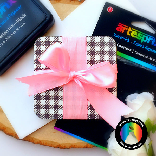 Artesprix Coaster D.I.Y Hostess Gift with Sublimation Iron-on-Ink Pad!