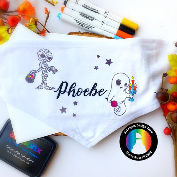 Halloween Pet Bandana with Artesprix Sublimation Markers!