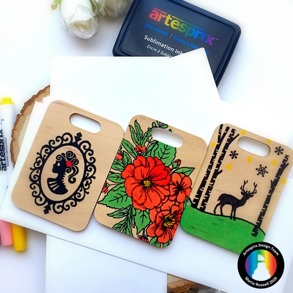 Seasonal Bag Tags with Sublimation Markers & Ink Pad