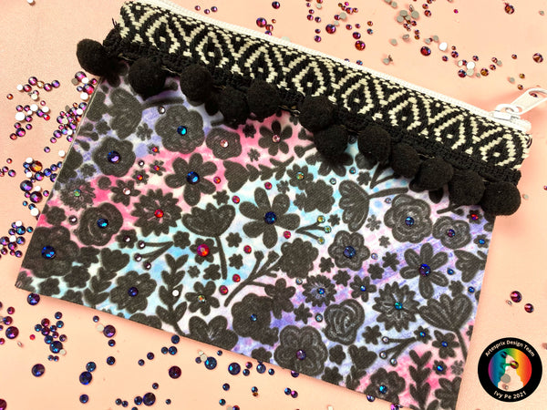 Sublimation Flower Zip Case
