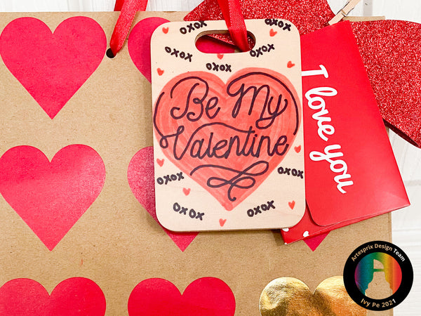 Iron-on-Ink Valentine's Day Bag Tag Project