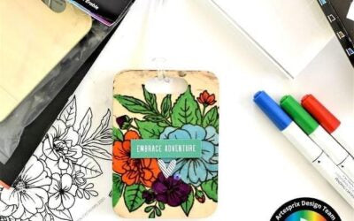 Maple Bag Tag design with Artesprix Iron-on-Ink