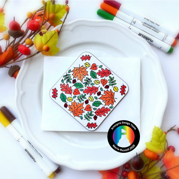 D.I.Y Thanksgiving Coasters with Artesprix Markers