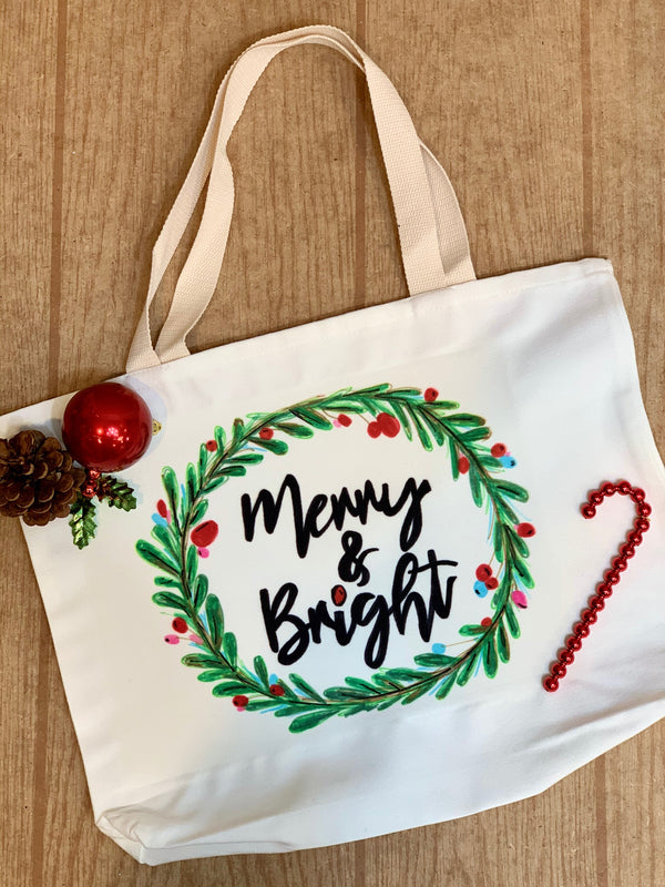 Artesprix December Blank of the Month Canvas Tote Bag!