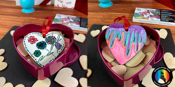 Iron-on-Ink Heart Shaped Ornament Surprise