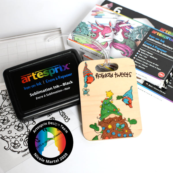 Holiday Bag Tag with Artesprix Markers!
