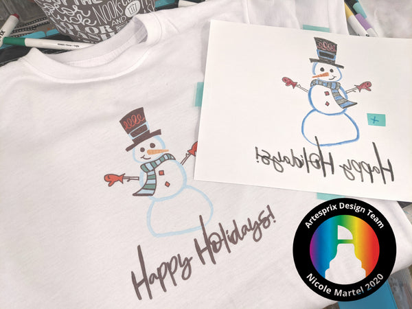 Artesprix Snowman Christmas Holiday T-shirt