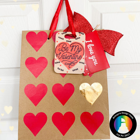 Valentine's Day Bag Tag project