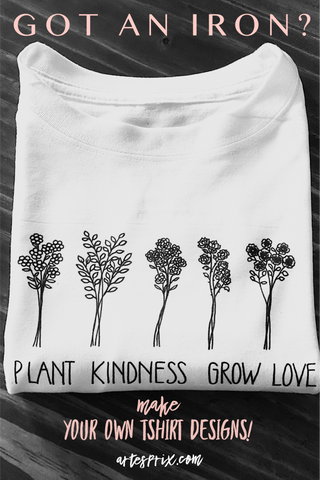 DIY T shirt with sublimation heat transfer markers