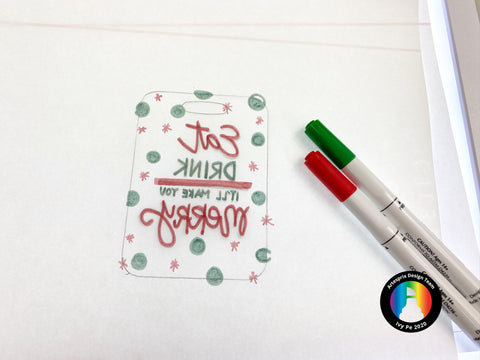 Color in your design using Artesprix Sublimation Markers
