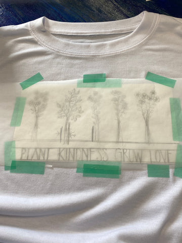 Sublimation design on polyester shirt with markers