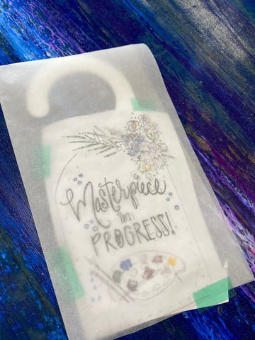 Sublimation Door Hanger Craft with iron-on-Ink markers