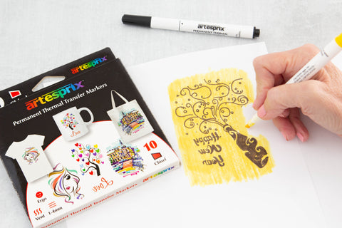 Color your Iron-on-Ink design