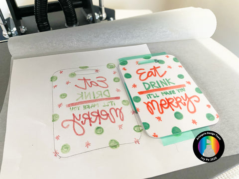 Finished Iron-on-Ink Bag Tag Project