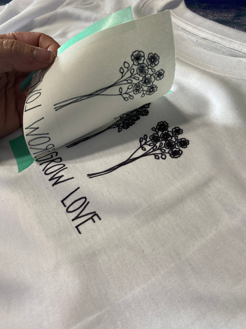 sublimation design with heat transfer markers