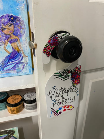 sublimation door hanger with sublimation markers diy