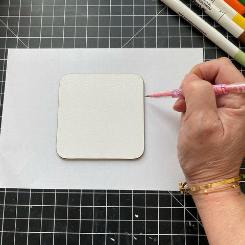Trace your textured Artesprix coaster