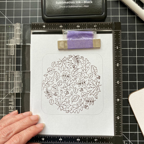 Stamp onto your plain piece of paper
