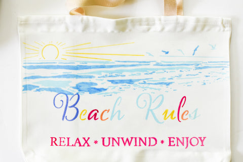 sublimation beach tote bag no printer heat transfer markers