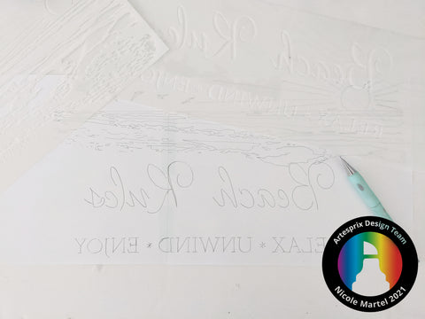 the crafters workshop stencil DIY sublimation with iron-on-Ink markers