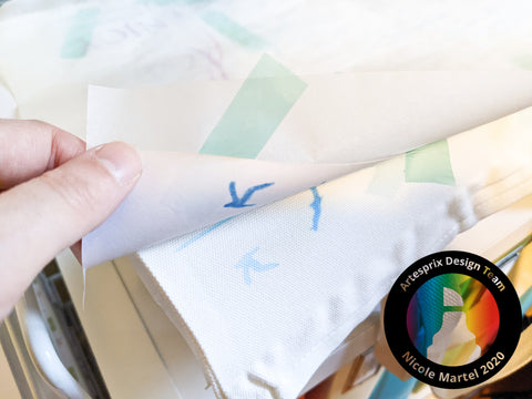 sublimation markers with DIY beach tote bag iron-on-ink