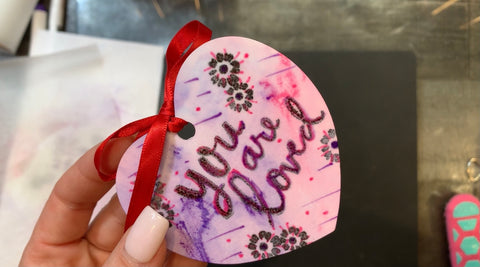 Finished Heart Shaped Ornament