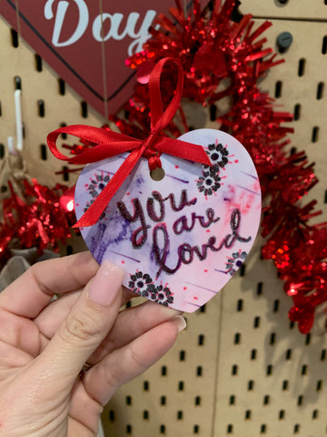 You Are Loved Artesprix Heart Shaped Ornament