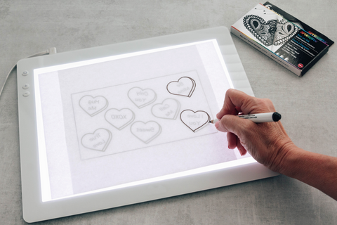 Trace your design using Iron-on-Ink