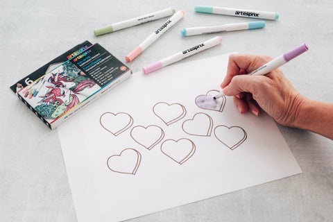 Color in your design using Iron-on-Ink