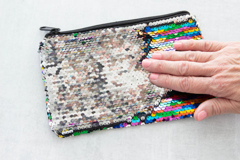 Smoothing the Sequin Bag