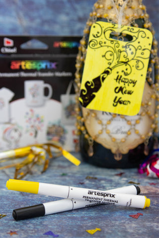 Artesprix Bag Tag New Years Eve Project