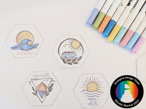 Sublimation Markers Colored Summertime Magnet Designs