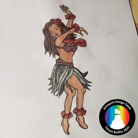 Hula Girl sublimation Markers