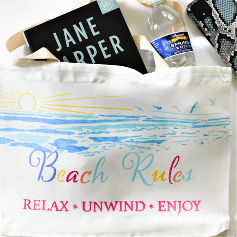 Sublimation beach tote bag with sublimation markers