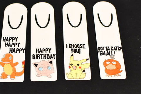 Completed Iron-on-Ink Bookmarks