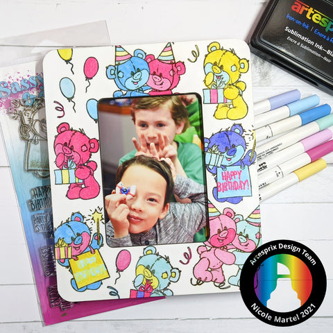 Sublimation happy birthday DIY picture frame
